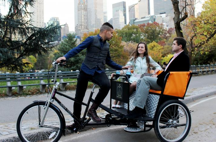 Central Park Experience on Pedicab with Taste of Best NYC Pizza or Cheesecake: In New York, New York (1)