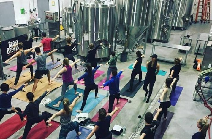 Brew You Yoga: Yoga at a Brewery: In Bronx, New York