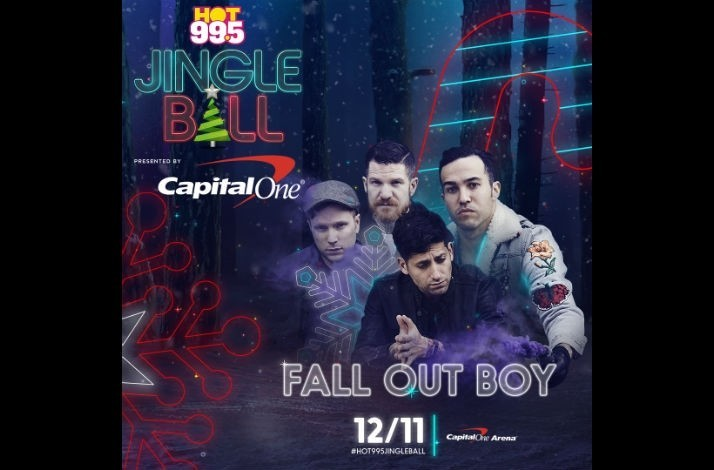 Meet Fall Out Boy with Tickets for Four on December 11 to HOT 99.5's Jingle Ball in DC: In Washington, District of Columbia (1)