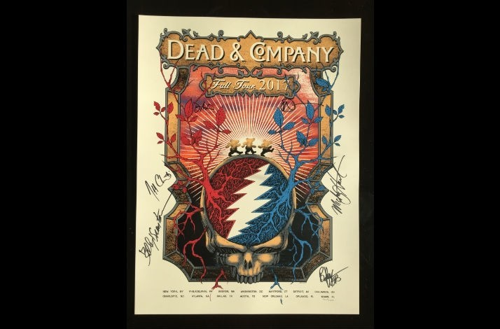 Dead Company Fall Tour : dead company official tour poster signed by dead company commemorating their fall 2017 ~ Hamham.info Haus und Dekorationen