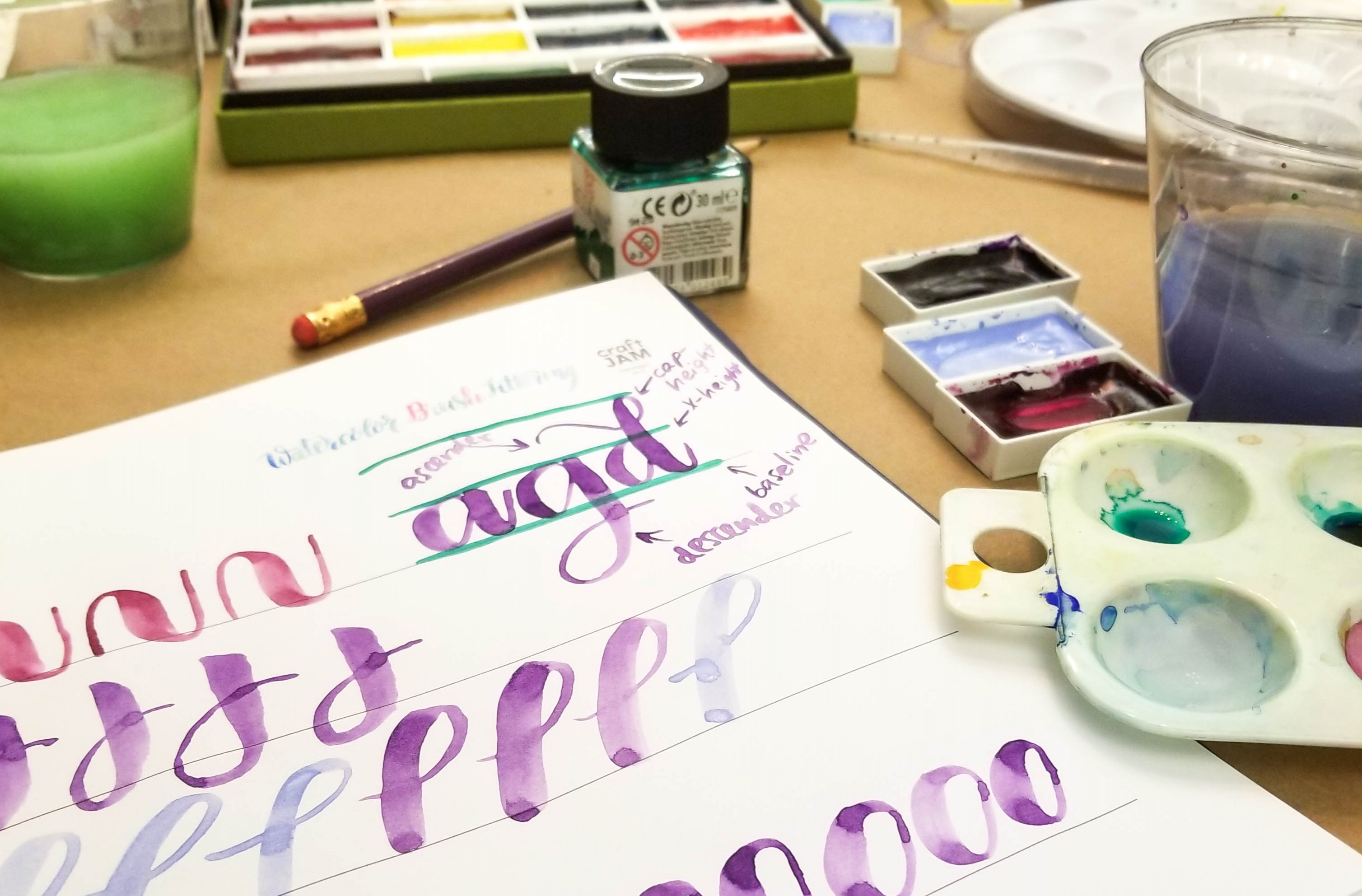 Learn Watercolor Brush Calligraphy in This Beginner Workshop: In New York, New York (1)