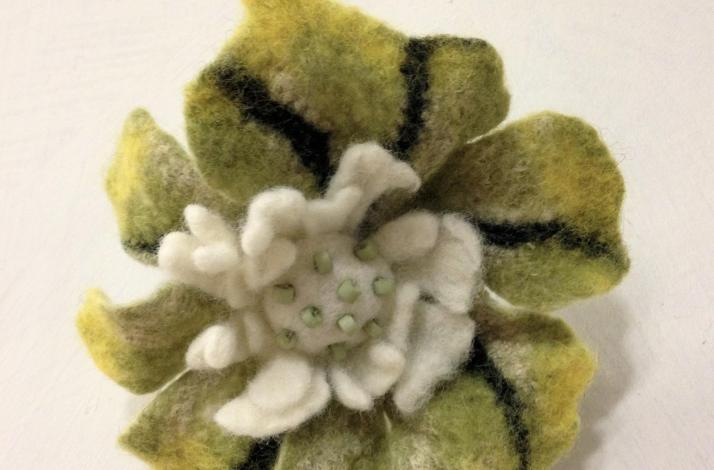 Felted Accessories: Create a Felt Flower Pin: In Evanston, Illinois
