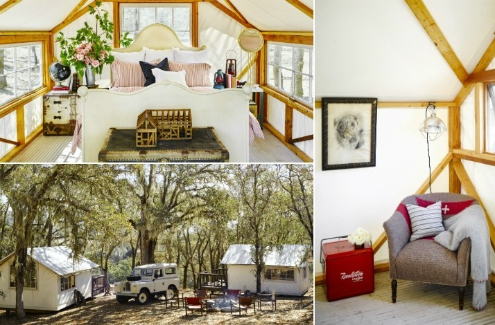 Glamping Bungalow Curated & Fully Furnished by Designer Ken Fulk at a Destination of Your Choice