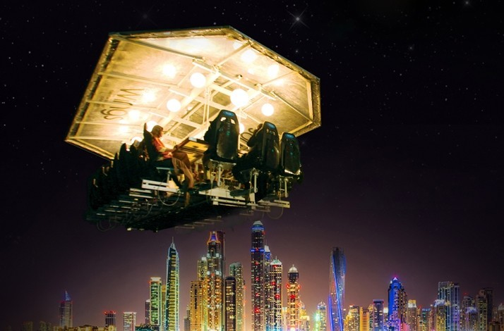Take dinner with a view to new heights from 50 metres over Dubai (Weekend): In Dubai, United Arab Emirates (1)